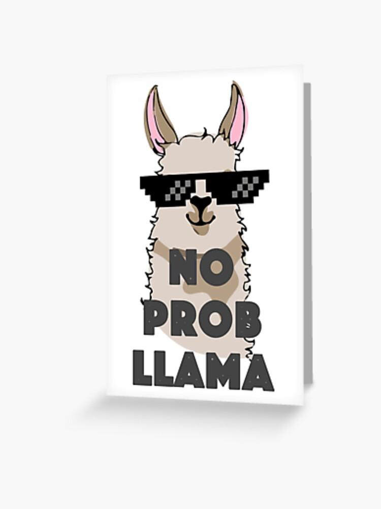 405f92c3 No Prob Llama Shirt Womens Funny Tshirt Funny Mens T Shirt Tumblr Tops  Clothing for Women