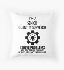 SENIOR QUANTITY SURVEYOR - NICE DESIGN 2017 Throw Pillow