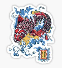 Koi t-shirt Sticker