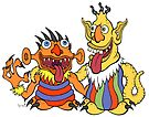 Bert and Ernie Monsters by Brett Gilbert