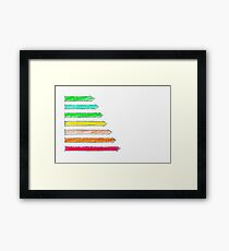 Hand drawing sketch of energy efficiency rating concept Framed Print
