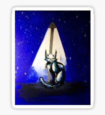 At Night - Mixed Media Painting Sticker