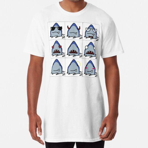 Shark Emojis! Long T-Shirt