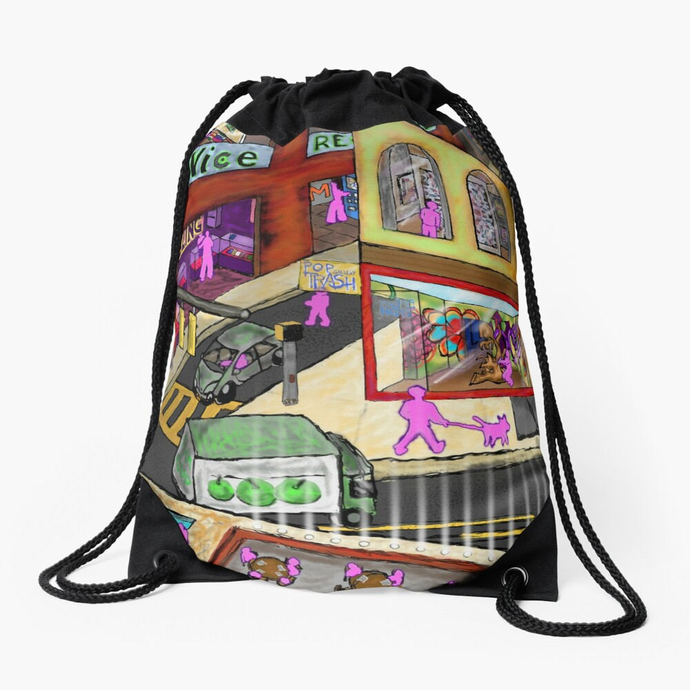 My Dream World Drawstring Bag