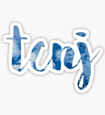 TCNJ sticker: cloudy cursive design Sticker