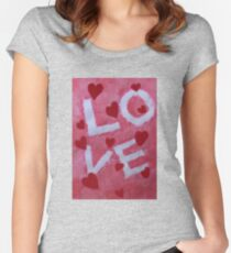Heart & Love Women's Fitted Scoop T-Shirt