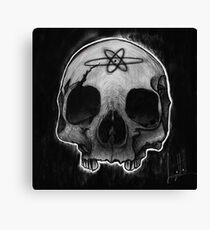 Human skull, black and white  Canvas Print