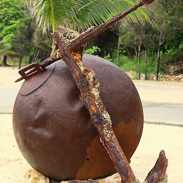 Rusty Old Ball and Anchor by anitahiltz