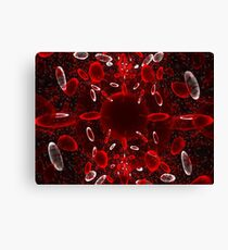 Red and White Cells Canvas Print