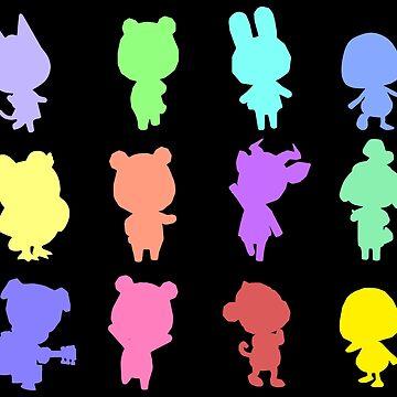 Animal Crossing Silhouette Pattern by adventuretimes