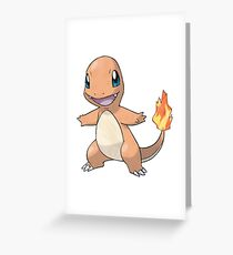 Pokémon Charmander #004 Greeting Card