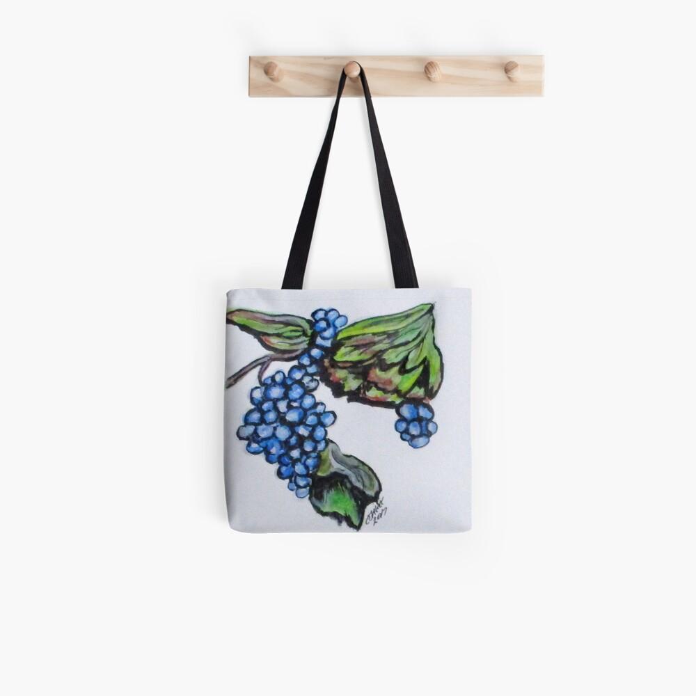 Vine Grapes Tote Bag