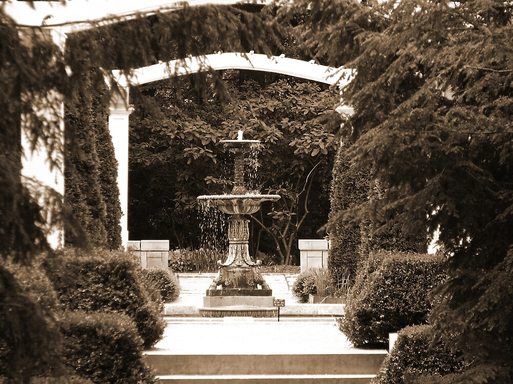 Fountain at Lilly House by IndyLady