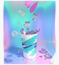 Vaporwave Solo Jazz Cup Poster