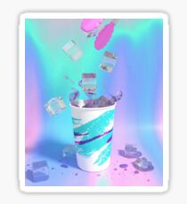 Vaporwave Cup Sticker