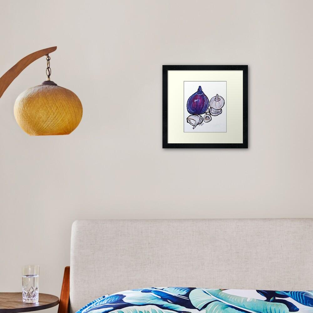 Onion And Garlic Framed Art Print