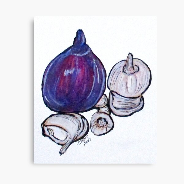 Onion And Garlic Canvas Print
