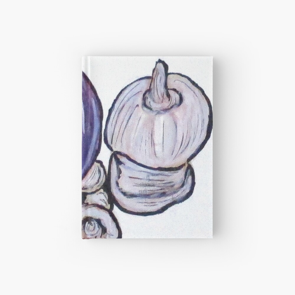 Onion And Garlic Hardcover Journal
