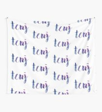 TCNJ sticker: dark blue and purple  Wall Tapestry