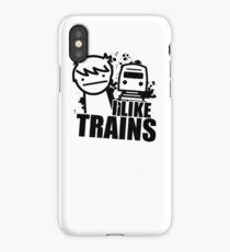 ASDF T-Shirt I Like Trains  iPhone Case/Skin