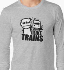 ASDF T-Shirt I Like Trains  Long Sleeve T-Shirt