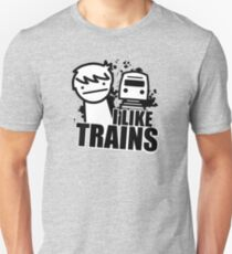 ASDF T-Shirt I Like Trains  T-Shirt