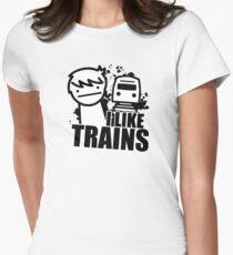 ASDF T-Shirt I Like Trains  T-Shirt