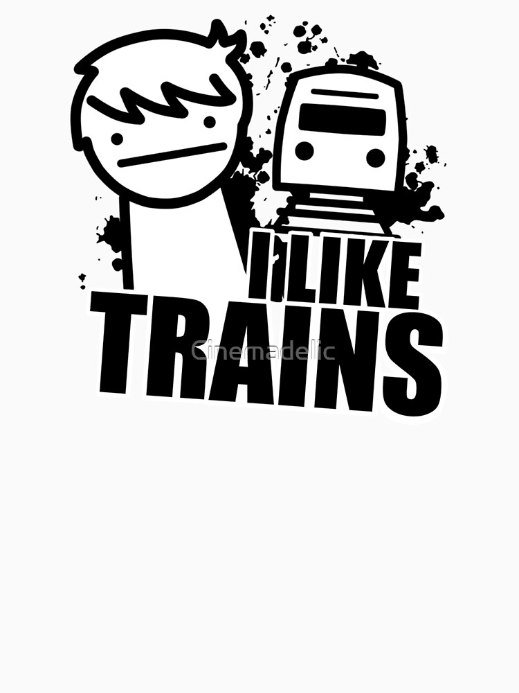 ASDF T-Shirt I Like Trains  | Unisex T-Shirt