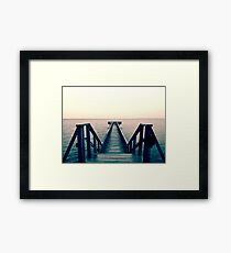 Split Toned Bridge Framed Print