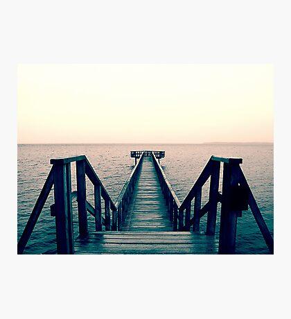 Split Toned Bridge Photographic Print