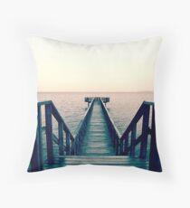 Split Toned Bridge Throw Pillow