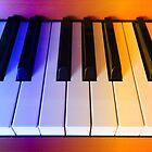 Rainbow Piano Keys by BlueMoonRose