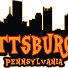 Cartoon Pittsburgh Skyline by baggss