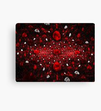 Red and White Gems Canvas Print