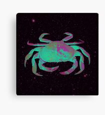 Starry Cancer Crab Canvas Print
