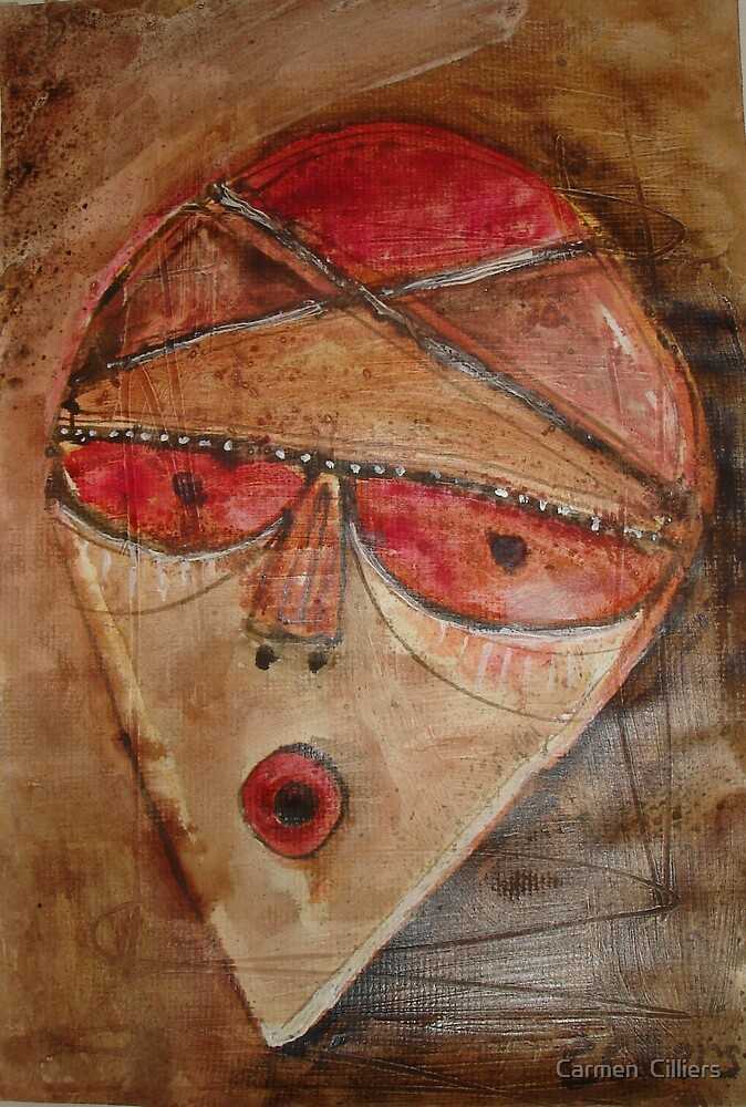 Mask of Gratitude by Carmen  Cilliers