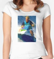 JD on a Jet Ski Women's Fitted Scoop T-Shirt