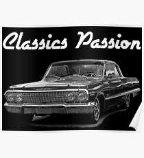 Póster Classics Passion 004 Chevrolet Impala 1963
