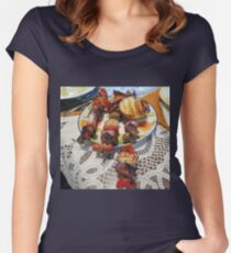 Chicken and Shrimp Kabobs Women's Fitted Scoop T-Shirt