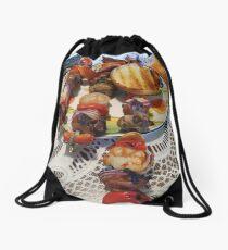 Chicken and Shrimp Kabobs Drawstring Bag
