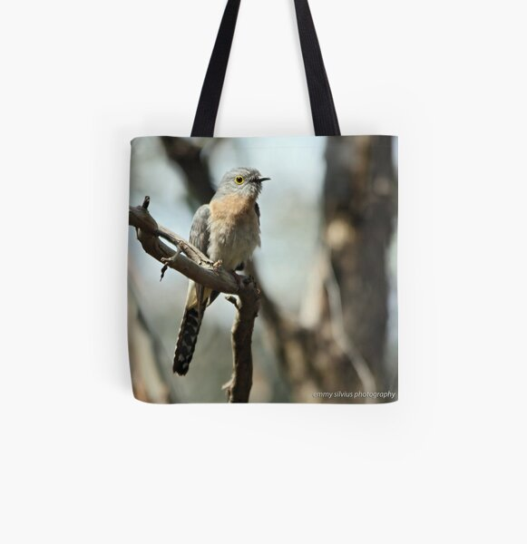 Fan-tailed Cuckoo  (5712) All Over Print Tote Bag