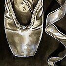 Ink Pointe shoe II by Rachelle Dyer
