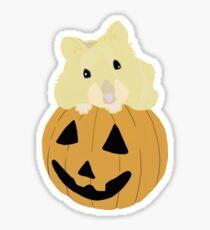 Hamster in a Pumpkin Sticker