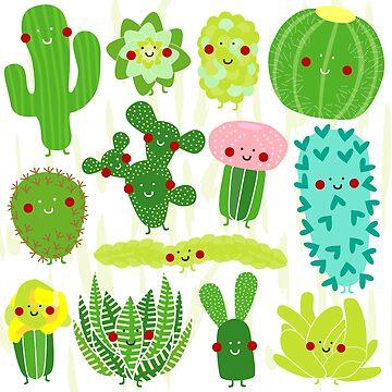 Succulents by littleredcheeks