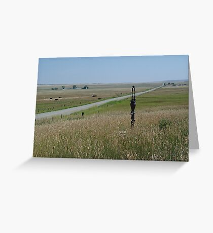 Little Pump on the Prairie Greeting Card