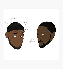 Lance Stephenson Blows In LeBron's Ear Photographic Print