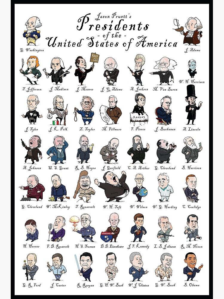 Presidents of the USA (with border) by jasonpruett