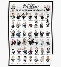 Póster Presidentes de los EE. UU. (Con borde)
