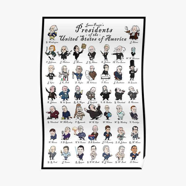 Presidents of the USA (with border) Poster