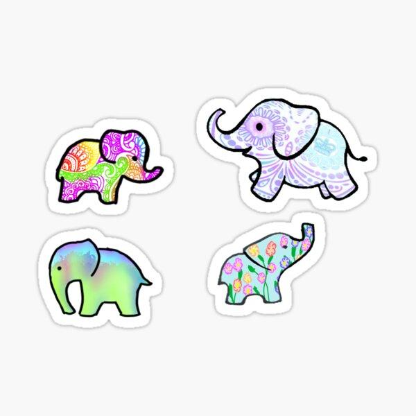 Elephant Madness Sticker
